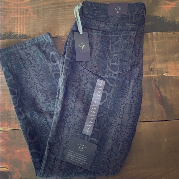 NYDJ Denim - Animal print skinny jeans